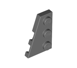 LEGO Dark Stone Gray Wing 2 x 3 Left (43723)