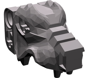 LEGO Dark Stone Gray Wolf`s Head (53457)
