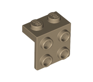 LEGO Dark Tan Bracket 1 x 2 - 2 x 2 (21712)
