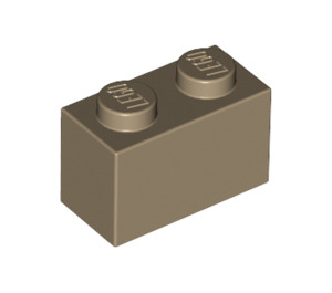 LEGO Dark Tan Brick 1 x 2 (3004)
