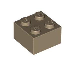 LEGO Dark Tan Brick 2 x 2 (3003)