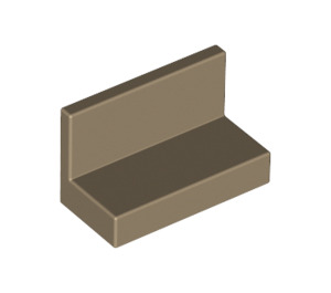 LEGO Dark Tan Panel 1 x 2 x 1 without Rounded Corners (4865)