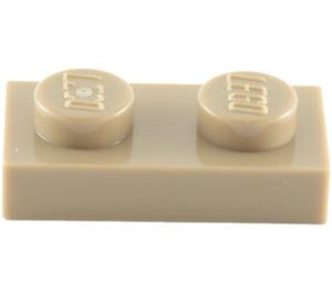 LEGO Dark Tan Plate 1 x 2 (3023)