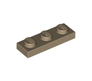 LEGO Dark Tan Plate 1 x 3 (3623)