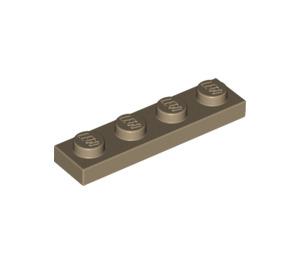 LEGO Dark Tan Plate 1 x 4 (3710)