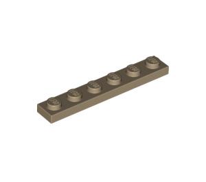 LEGO Dark Tan Plate 1 x 6 (3666)
