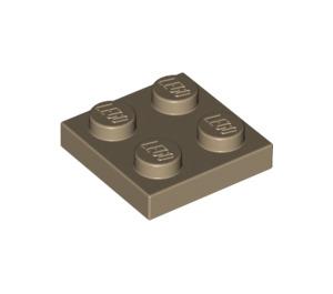 LEGO Dark Tan Plate 2 x 2 (3022)