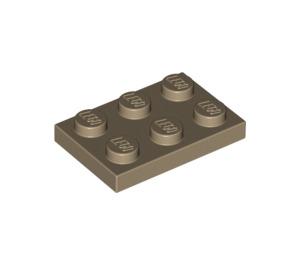 LEGO Dark Tan Plate 2 x 3 (3021)
