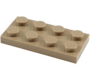 LEGO Dark Tan Plate 2 x 4 (3020)