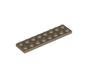 LEGO Dark Tan Plate 2 x 8 (3034)