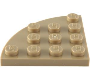 LEGO Tan foncé assiette 4 x 4 Rond Coin (30565)