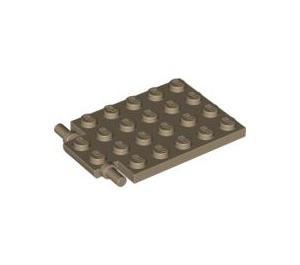 LEGO Dark Tan Plate 4 x 5 Trap Door Flat Hinge (92099)