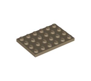 LEGO Dark Tan Plate 4 x 6 (3032)