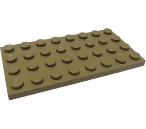 LEGO Dark Tan Plate 4 x 8 (3035)