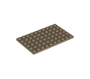 LEGO Dark Tan Plate 6 x 10 (3033)