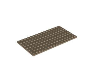 LEGO Dark Tan Plate 8 x 16 (92438)
