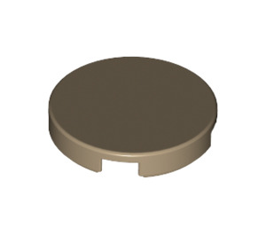 LEGO Dark Tan Round Tile 2 x 2 with Bottom Stud Holder (14769)