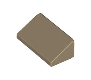 LEGO Dark Tan Slope 1 x 2 (31°) (85984)