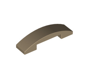 LEGO Dark Tan Slope 1 x 4 Curved Double (93273)