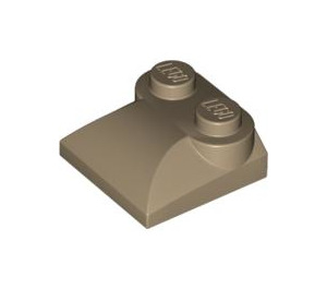 LEGO Dark Tan Slope Curved 2 x 2 with Curved End (47457)