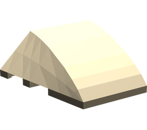 LEGO Dark Tan Wedge 4 x 3 Triple Curved without Studs