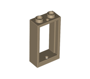 LEGO Dark Tan Window 1 x 2 x 3 without Sill (60593)