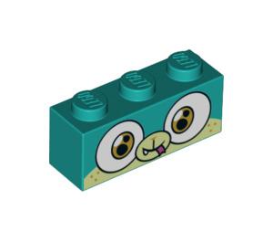 LEGO Dark Turquoise Alien Puppycorn Brick 1 x 3 (39027)