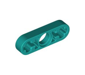 LEGO Dark Turquoise Beam 3 x 0.5 with Axle Hole each end (6632)