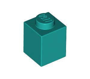 LEGO Dark Turquoise Brick 1 x 1 (3005)