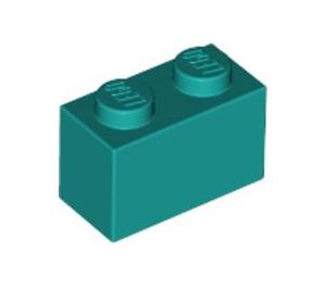 LEGO Dark Turquoise Brick 1 x 2 (3004)