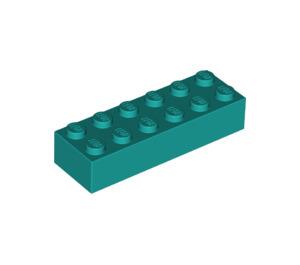 LEGO Dark Turquoise Brick 2 x 6 (44237)