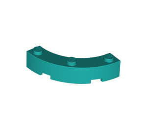 LEGO Dark Turquoise Brick Corner 4 x 4 (Wide with 3 Studs) (48092)