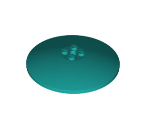 LEGO Dark Turquoise Dish 8 x 8 Inverted (3961)