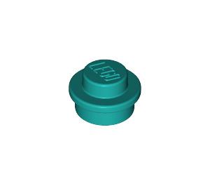 LEGO Dark Turquoise Plate 1 x 1 Round (6141)
