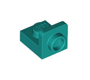 LEGO Dark Turquoise Plate 1 x 1 with 1/2 Bracket (36840)
