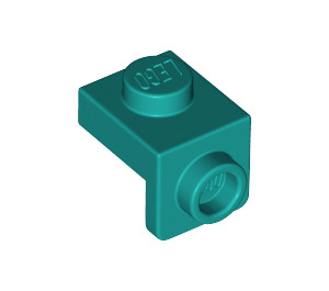 LEGO Dark Turquoise Plate 1 x 1 with 1.5 Bracket (Down) (36841)