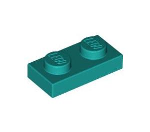 LEGO Dark Turquoise Plate 1 x 2 (3023)
