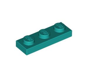 LEGO Dark Turquoise Plate 1 x 3 (3623)