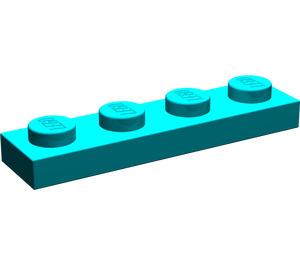 LEGO Dark Turquoise Plate 1 x 4 (3710)