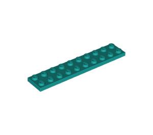 LEGO Dark Turquoise Plate 2 x 10 (3832)