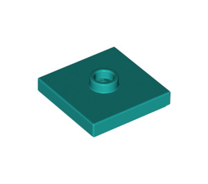 LEGO Dark Turquoise Plate 2 x 2 with Groove and 1 Center Stud (23893)
