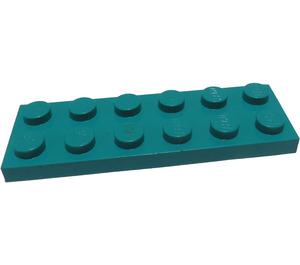 LEGO Dark Turquoise Plate 2 x 6 (3795)