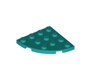 LEGO Turquoise Foncé assiette 4 x 4 Rond Coin (30565)
