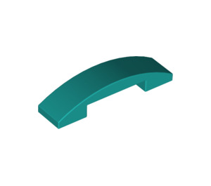LEGO Dark Turquoise Slope 1 x 4 Curved Double (93273)