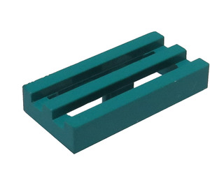 LEGO Dark Turquoise Tile 1 x 2 Grille (with Bottom Groove) (2412)
