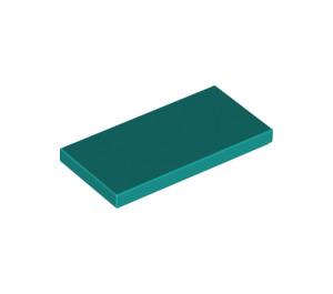 LEGO Dark Turquoise Tile 2 x 4 (87079)