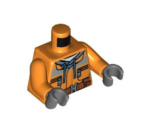 LEGO Demolition Driller Driver Minifig Torso (973 / 76382)