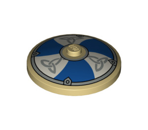 LEGO Dish 4 x 4 with Odin's Horn Norse Shield with Solid Stud (3960 / 53670)