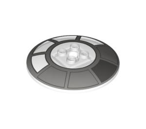 LEGO Dish 6 x 6 Inverted (Radar) with Decoration Solid Studs (21599 / 34448)