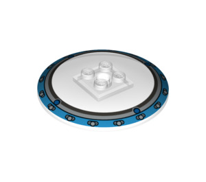 LEGO Dish 6 x 6 Inverted (Radar) with Decoration Solid Studs (21637 / 44375)